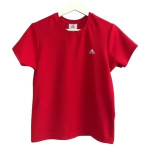 Adidas Climalite Red Athletic Wear T-Shirt Size M